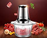 Mukhivala Electric Meat Grinder - Two Files 300W Household Electric Stainless Steel Meat Grinder and One-Button Meat Mixer Home Kitchen Food Processor, Acrylic Cup(10x10x9) inches