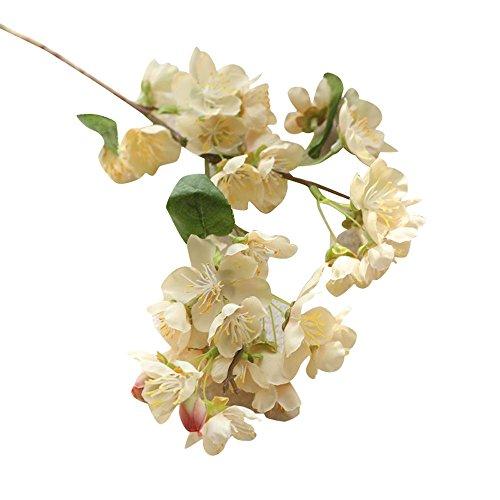 OSYARD Wohnaccessoires & Deko Kunstblumen,Unechte Blumen Künstliche Fake Blumen Kirschblüten Simulation Gefälschte Blumen Wedding Bouquet Home Party Garten Decor DIY Blumenschmuck Fake Blumen
