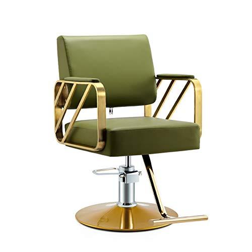 ZYF Silla de Oficina Giratoria Las sillas del salón de Belleza Silla de Peluquero peluquería Silla giratoria Moderna Profesional de peluquería Elevador hidráulico Escritorio Ergonómica
