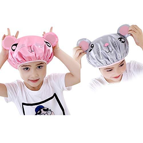 Lot de 2 bonnets de douche imperméables à double couche
