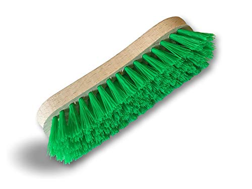 Kibros 1015Vb | Cepillo de lavado y freidor PPL verde | Montura de madera | Limpieza / cepillado puente pared suelo baldosas | Cocinas y baños