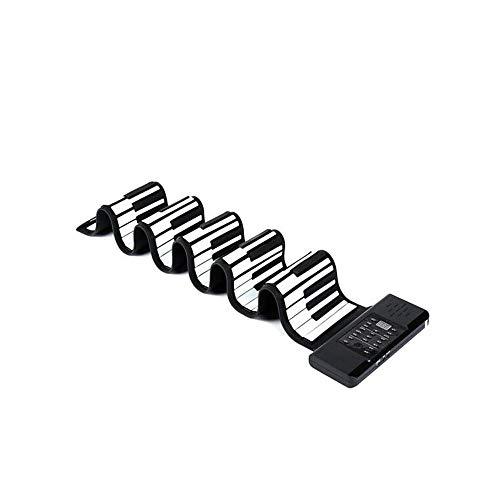 Qiyuezhuangshi Tragbare Klavier, Hand Roll-Klavier-Tastatur 88 Tasten Erwachsene Kinder-Test Tragbare Gürtel mit Sustain Pedal Wiederaufladbare Mit Handy-Tablette XS8802 , der Klang ist außergewöhnlic