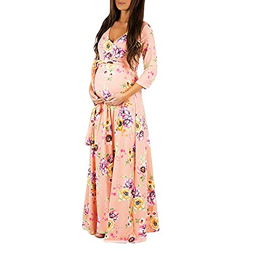 FRAUIT Vestito di maternità con Stampa Vestiti Premaman Donna Cerimonia Gravidanza Abbigliamento...
