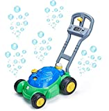 BCL Lawn Mower Bubble Machine for Kids (Double MEGA Bundle (1) UNIPOIE (1) UNISOIE) Toddler Old Boys Girls Blower Outdoor Push Baby Kids Activity Walker Summer Outside Wands Party Favor