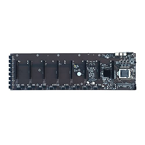Halllo BTC-B75 Mining Machine MDDR3 - Placa base para CPU ETC (conexión directa y no requiere transmisión)