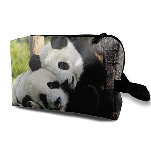 Panda Bear Small Travel Toiletry Bag Super Light Toiletry Organizer for Overnight Trip Bag
