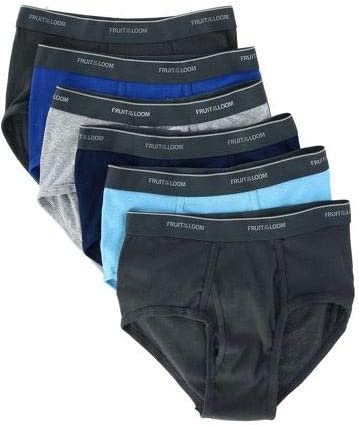 Fruit of the Loom Men's Fashion Brief (Pack of 6) (6-Pack Assorted Fashion Briefs, X-Large)