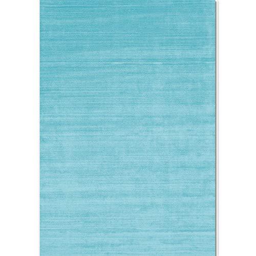 GOYOO Teppich Modern Elegant Blau Bodenmatte Wohnzimmer Schlafzimmer Küche Hindernisblock Flur Polyester Dekoration,160x230cm