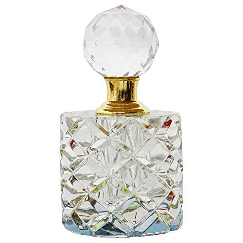 Geschliffener Glas Flakon im Antik-Stil Parfum Kristallglas Flacon 11cm (b)