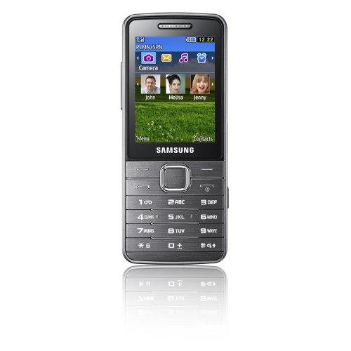 Samsung S5610 Handy (6.1 cm (2.4 Zoll) Display, 5 Megapixel Kamera, 108 MB interner Speicher) metallic-silber