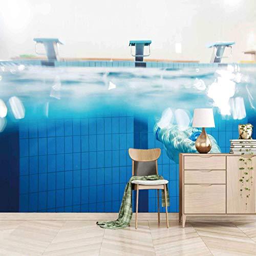 Msrahves posters para pared Azul deportes piscina Papel Pintado Fotográfico Fleece no-trenzado Salón Dormitorio Despacho Pasillo Decoración murales decoración de paredes moderna