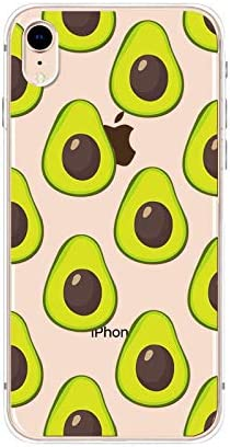 iPhone XR Case,Blingy's New Cute Fruit Style Transparent Clear Soft TPU Protective Case Compatible for iPhone XR (Avocado)