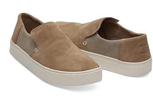 TOMS Mens Lomas Casual Sneakers, Brown, 10