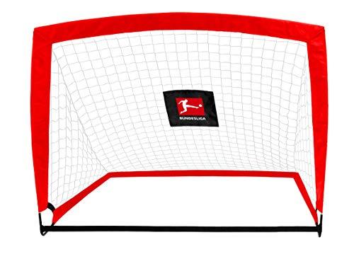 Bundesliga Fussballtor POP UP Flex, faltbar 120 x 90 x 90 cm, für den Garten/Park