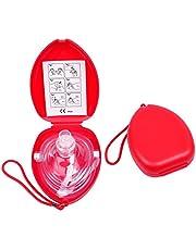 DEDC Mascarilla CPR Resuscitator, Pocket Mask máscara de Emergencia Profesional para reanimación respiración Boca a Boca