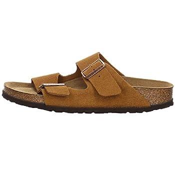 Birkenstock Women s Arizona SFB Open Toe Sandals Suede Leather Mink 7 Narrow