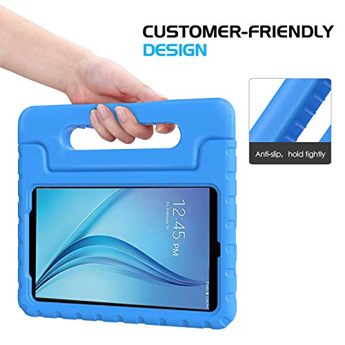 BMOUO Samsung Galaxy Tab E Lite 7.0 inch Kids Case - ShockProof Case Light Weight Kids Case Super Protection Cover Handle Stand Case for Children for Samsung Galaxy Tab E Lite 7-Inch Tablet - Blue