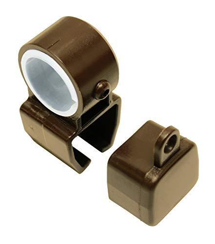 Gardinia Halter mit Endkappen für U-Laufschienen bronze, 2 Sets, Kunststoff, Zutreffend, 2