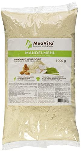 Harina de almendras MeaVita, natural, blanqueada, paquete de 3 (3 x 1000g) en una bolsa