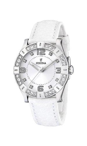 Festina Damen analog Quarz Uhr mit Leder Armband F16537/1