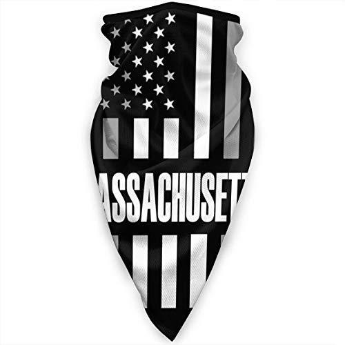 Massachusetts USA vlag gezichtsmasker hals gamassen bandana sjaal bivakmuts multifunctionele hoofddeksel -S51-86