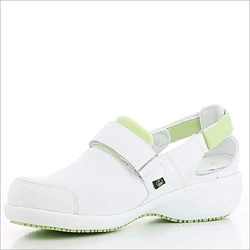 Oxypas Move Up Salma Slip-resistant, Antistatic Nursing Shoes, White/Grey (Light Grey), 5 UK (38 EU)
