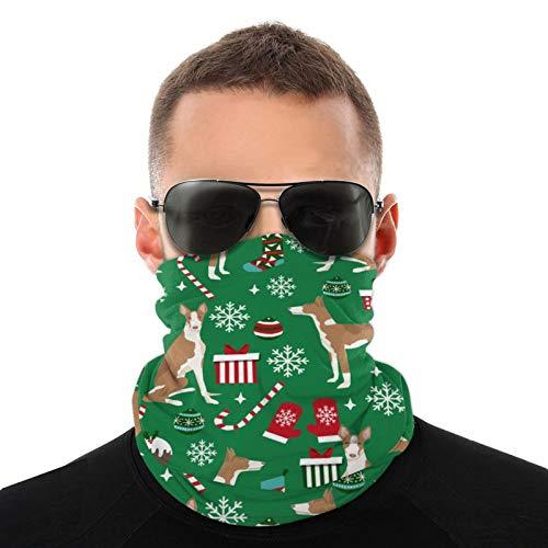 Ibizan Hound Weihnachten – Grün Halstuch Vielfalt Kopftuch Multifunktionstuch Sturmhaube für Männer Frauen