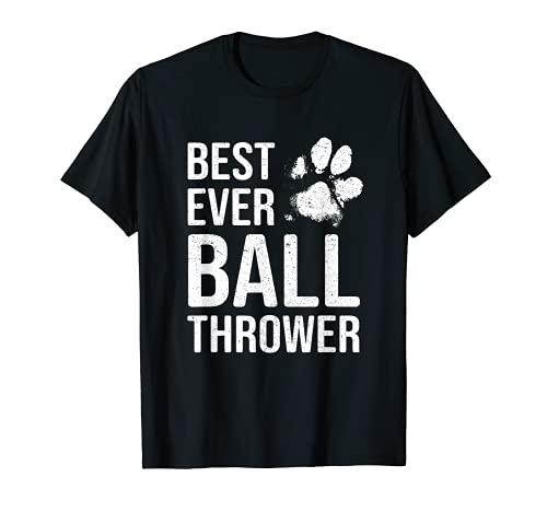 Regalo divertido para amantes de los perros, mejor lanzador de bolas Camiseta