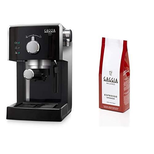 Gaggia Viva Style Macchina Caffè, 950 W, Plastica + Caffè Macinato Espresso Intenso, 250 gr