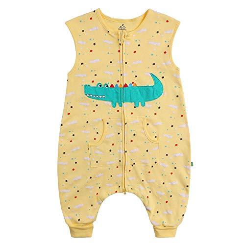 Shinelly Katze Muster Schlafsack Baby Swaddle,Super Weiche Baumwolle Wearable Decke Krokodil S