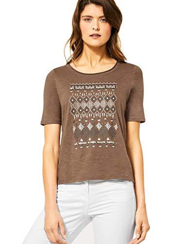 Cecil Damen 314960 T-Shirt, Light Cappucino Brown, Large