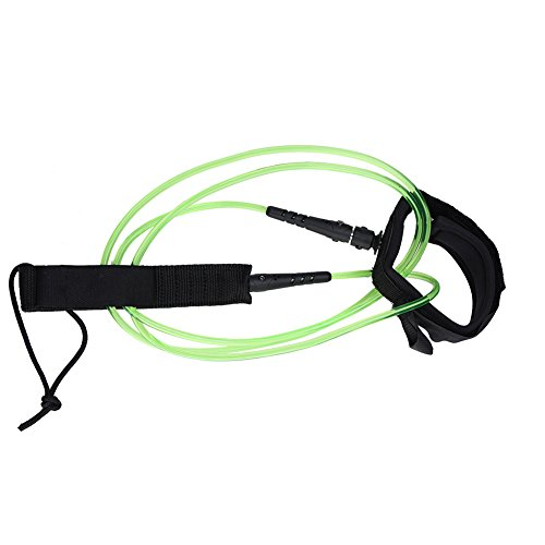 Correa de Tobillo Leash para Surf Sujetación de Tobillo para Tabla de Surf 6 Pies de Longitud (Color : Verde)
