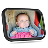 Weback Baby Car Mirror, Car Mirror Baby Rear Facing Seat with Wide View Shatterproof Adjustable Mirror, Fully Assembled Car Seat Mirror with 2 Buckles for Secure