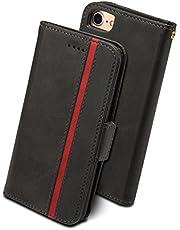 スマホ用 手帳型カバー 多機種対応 Rssviss サイドマグネット カード収納 Qi充電対応 横置き機能 ストラップ通し穴 高級PUレザー W5