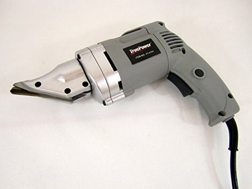 Heavy-Duty Electric Metal Shear - Swivel Head - Cuts 14 Ga Steel - UL-Listed