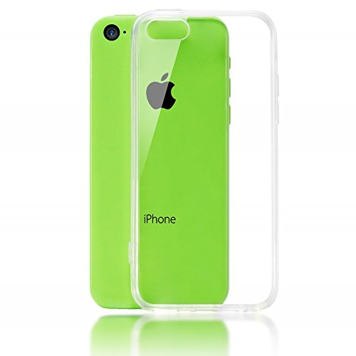 NALIA Funda Carcasa Compatible con iPhone 5C, Protectora Movil Silicona Ultra-Fina Gel Cubierta Estuche, Goma Telefono Bumper Back-Cover Cobertura Delgado Case Claro Cristal Clear - Transparente