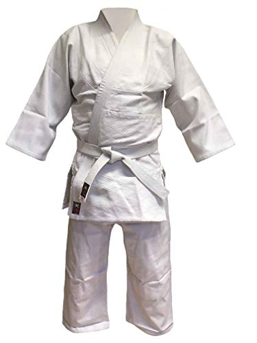 Budodrake Aikido Anzug Keiko-Gi AIKI Deluxe mit Elastikbund (175)