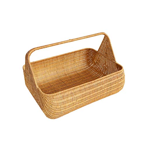 Liutao picknickmanden voor tuin en buiten, picknickmanden, van rotan, voor thuis, creatieve opslag, voor reizen, kamperen, winkelen, opbergen, cadeaumanden, duurzaam, picknickmanden