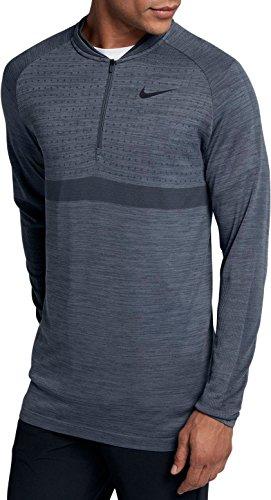 Nike Dri Fit 1/2 Zip Seamless Top Golf Pullover 2018 Light Carbon/Thunder Blue/Black X-Large