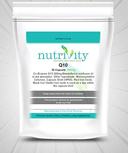 Co Enzyme Q10 100mg Capsules Antioxidant Beauty Supplement Nutrivity UK (240)