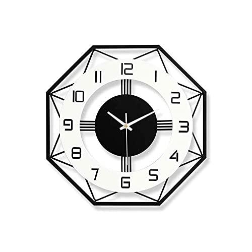 Reloj De Pared Simple Hierro Forjado Hilo De Altura De Alta Temperatura Barniz, Puntero De Metal Sin Desvanecimiento, Movimiento Silencioso, Decoración Creativa Sala De Estar Dormitorio Redondo Cuarzo