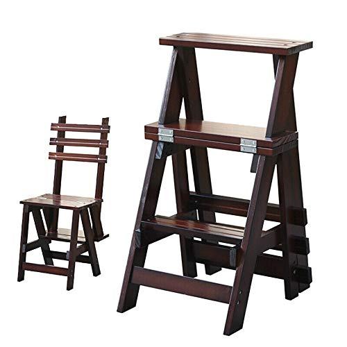 Z-H Binnen drietraps ladder vouwen ladder plus dikke houten ladder kruk multifunctionele maximale belasting 200kg