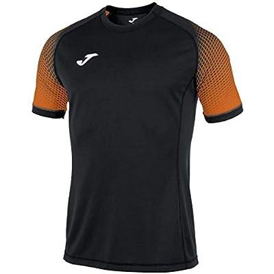 Joma Camisetas Equip. M/c, Hombre, hispa Negro/Naranja