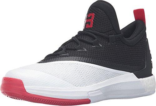 adidas Performance Men's Crazylight Boost 2.5 Low Harden PE Basketball Shoe (11, Black/Scarlet/White)