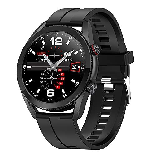 DALIL L19 Smartwatch, Orologio Sportivo IP68 Impermeabile Con Monitoraggi Saluti e Funzioni Sport per Android e iOS. Batteria 290mAh (Nero)