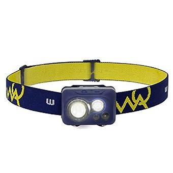WAQ LED ヘッドライト センサー 防水 (300ルーメン/実用点灯115時間/ワイド/乾電池/軽量) 防災 登山 釣り キャンプ ランニング ヘッドランプ WAQ-HL1