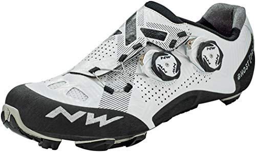 Northwave Ghost Pro MTB - Zapatillas de ciclismo, color blanco y negro, talla 43,5