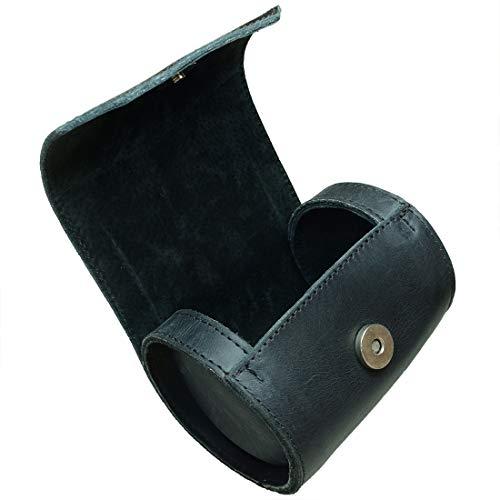 Hide & Drink, Leather Tie Roll Case, Travel Essentials, Storage Box, Handmade Includes 101 Year Warranty :: Charcoal Black