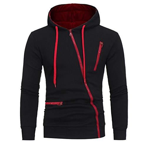 Herren Kapuzenpullover mit Reißverschluss Pullover Mit Kapuze Sweatshirt Hoodie Sportjacke Sweatjacke CICIYONER