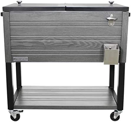 Permasteel PS 205 GRY AM 80 Quart Patio Cooler Gray product image